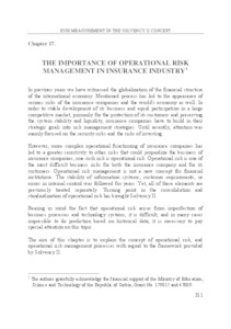The importance of operational risk management in insurance industry